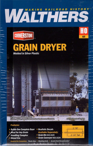 HO Scale Walthers Cornerstone 933-3128 Grain Dryer Kit