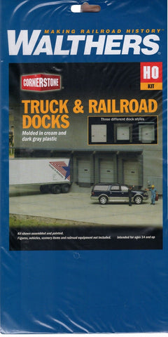 HO Scale Walthers Cornerstone 933-4070 Truck and Railroad Docks/Doors Kit