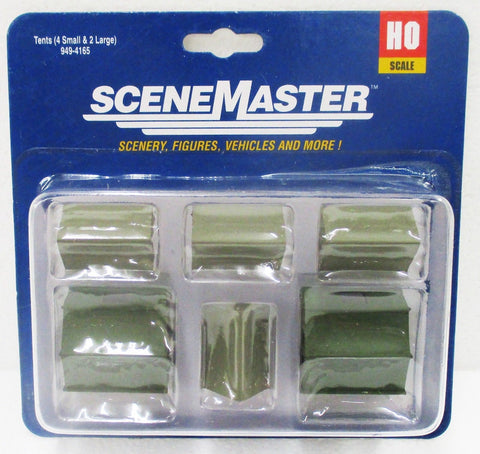 HO Scale Walthers Scene Master 949-4165 Camping Tents (6) pcs