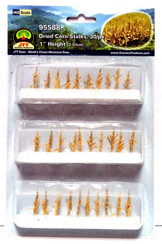 HO Scale JTT Scenery Products 95588 Dried Harvest Corn Stalks (30) pcs