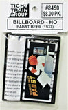 HO Scale Tichy Train Group 8450 Pabst Beer Billboard Kit