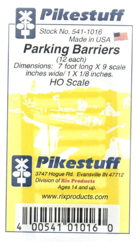 HO Scale Pikestuff 541-1016 Concrete Parking Barriers pkg (12)