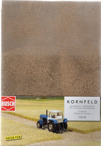 HO Scale Busch Gmbh & Co Kg 1310 Harvested (Cut) Corn Field 11-11/16 x 8-1/4""