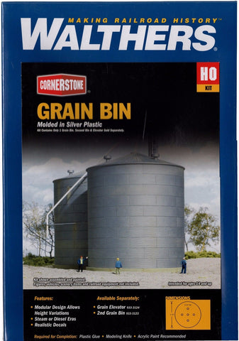 HO Scale Walthers Cornerstone 933-3123 Big Grain Storage Bin Kit