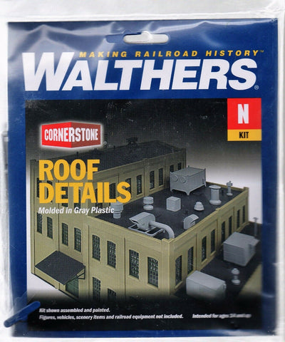 N Scale Walthers Cornerstone 933-3286 Roof Details Building Kit