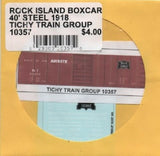 HO Scale Tichy Train Group 10357 Rock Island 40' Steel Boxcar Decal Set