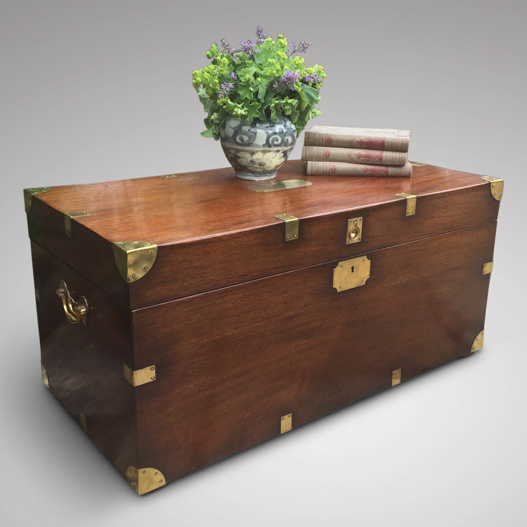 antique campaign chest