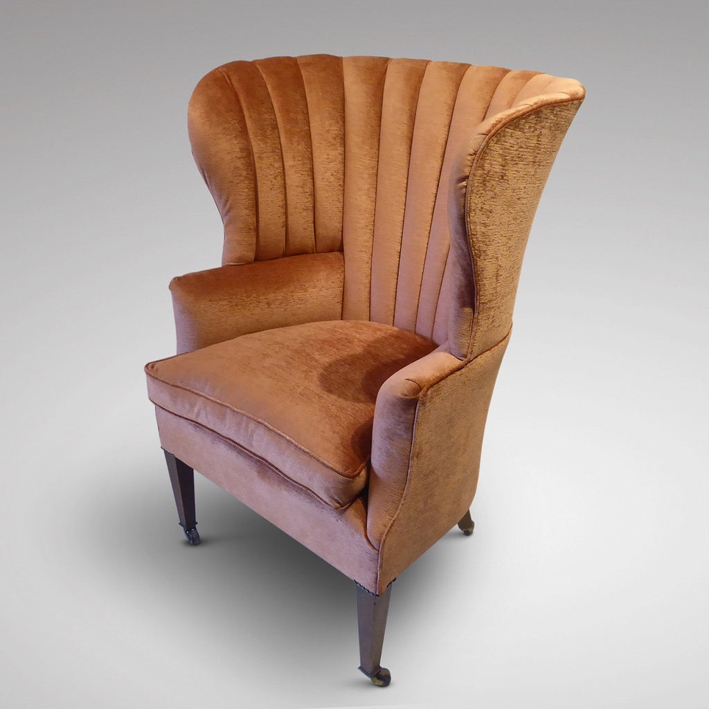19th Century Barrel Back Armchair - Side View one