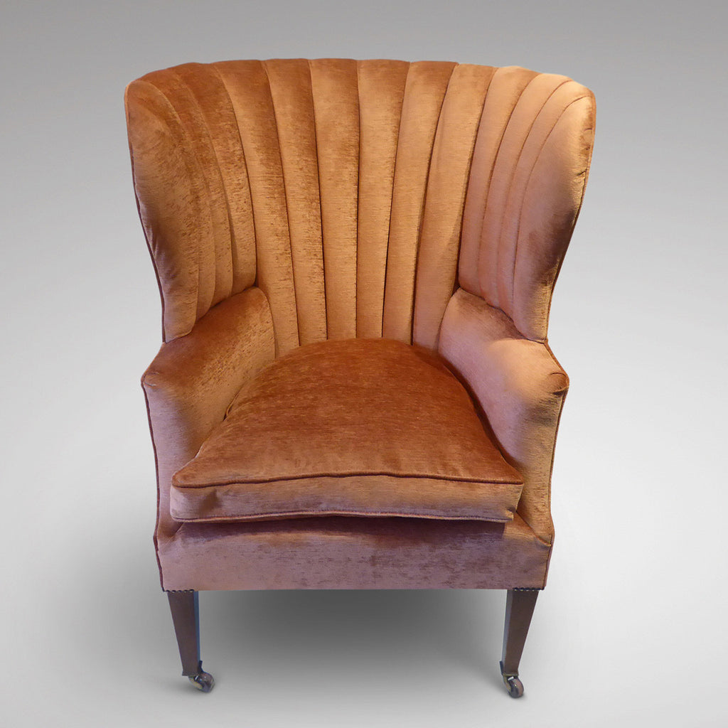 19th Century Barrel Back Armchair - Front View two