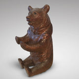 19th Century Black Forest Bear Inkwell - Main view of bear - 1