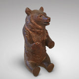 19th Century Black Forest Bear Inkwell - Front view of bear - 2