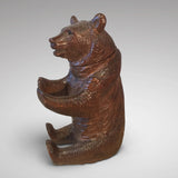 19th Century Black Forest Bear Inkwell - Side view of bear- 4