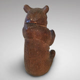 19th Century Black Forest Bear Inkwell - Back view of bear - 5