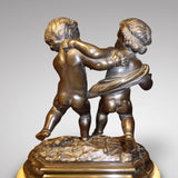 Antique Bronze Sculpture of Cupid & Putto -Back view
