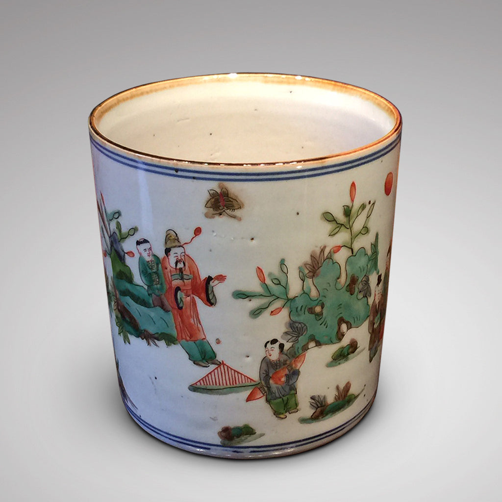 19th Century Chinese Brush Pot - Hobson May Collection - 2
