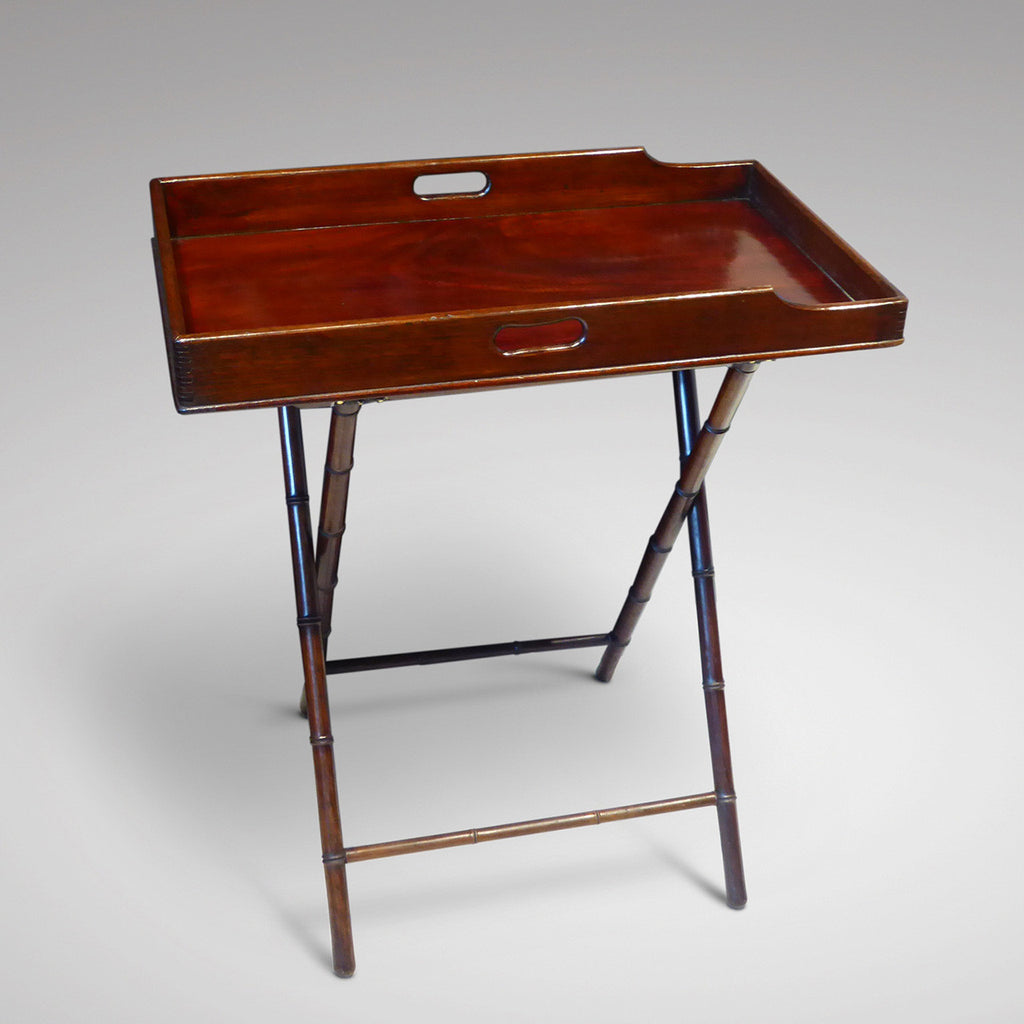 19th Century Mahogany  Butler's Tray -Front View One