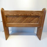 19th Century Pitch Pine Church Pew - Back View