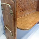 19th Century Pitch Pine Church Pew - Detail View