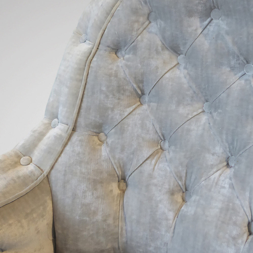 19th Century Buttoned  Armchair -Detail View of seat -4