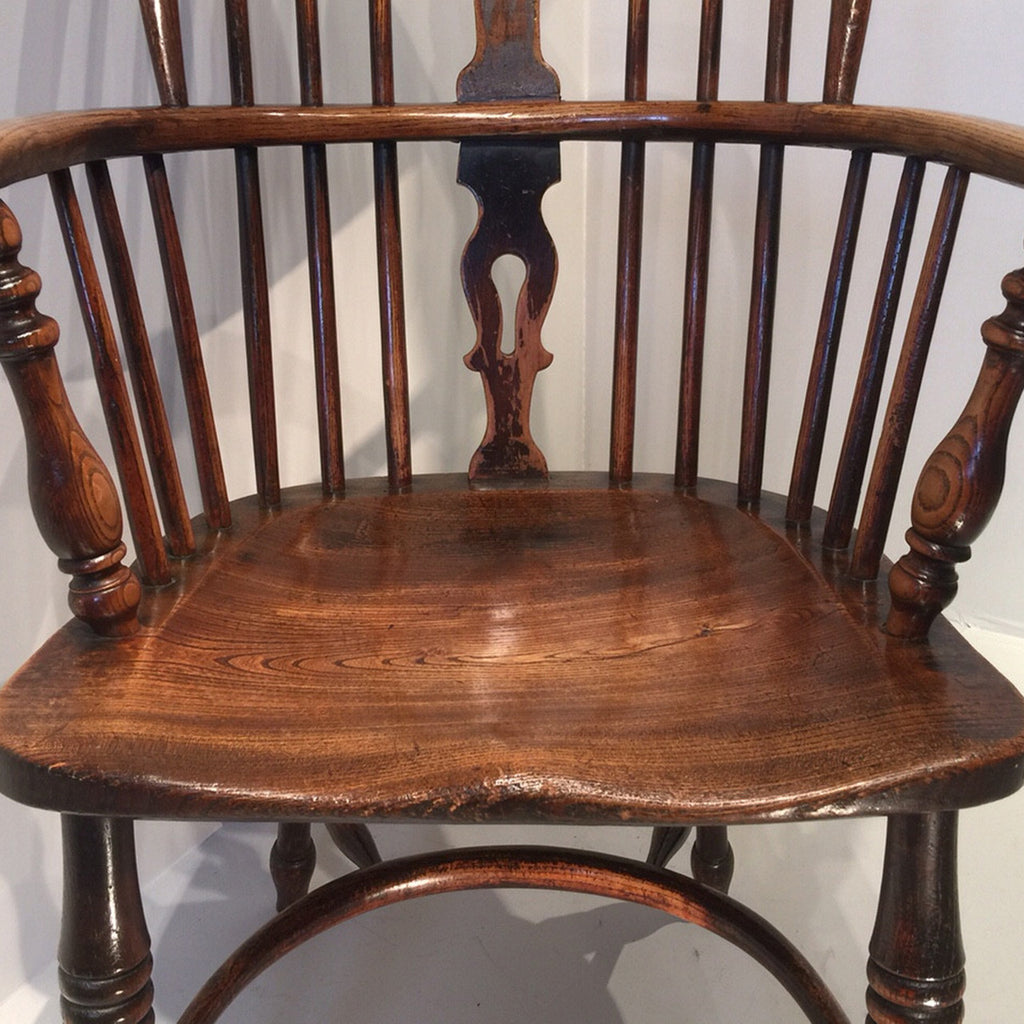 19th Century High Back Windsor Armchair - Front View one