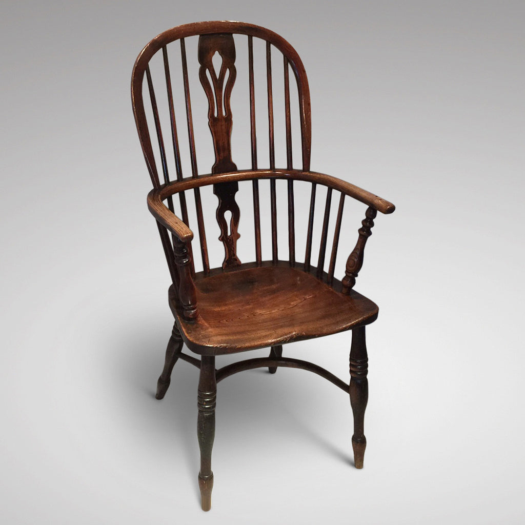 19th Century High Back Windsor Armchair - Front View two