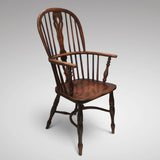 19th Century High Back Windsor Armchair- Side View