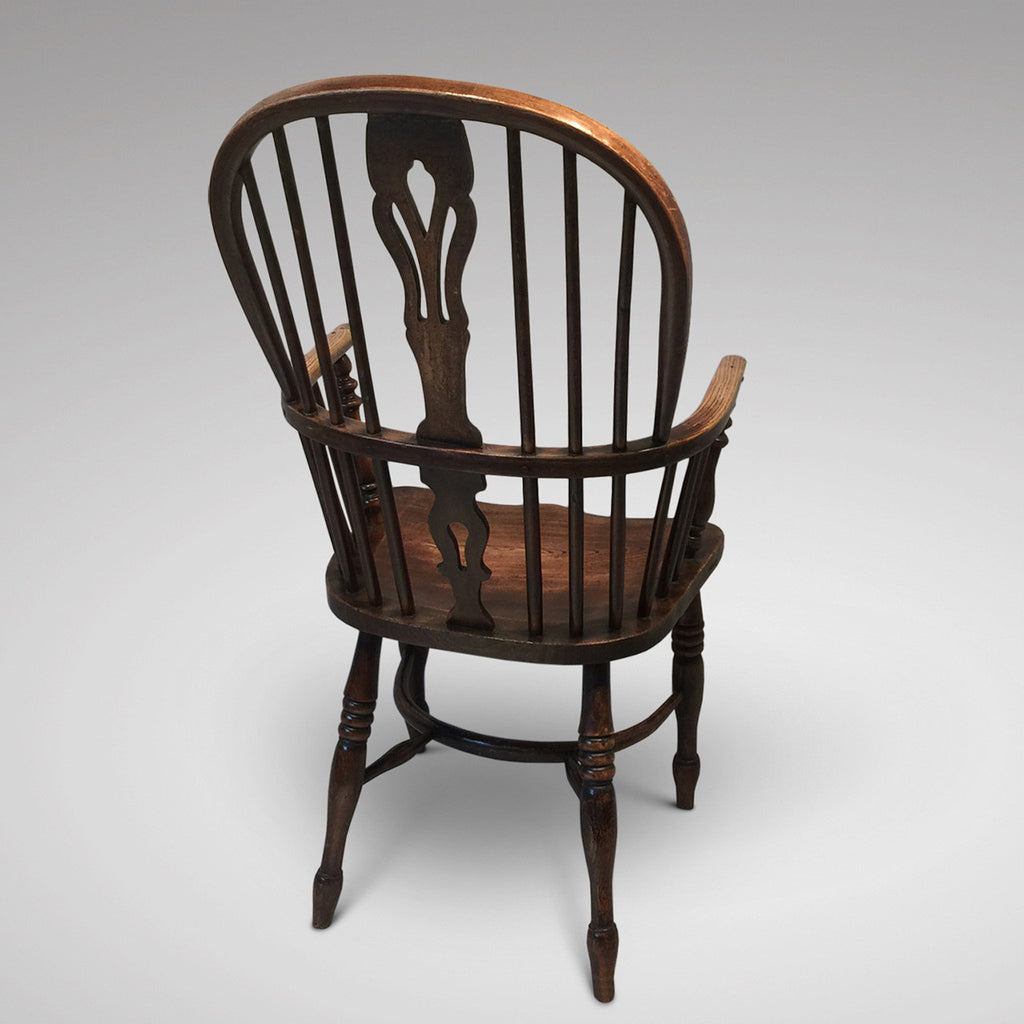 19th Century High Back Windsor Armchair - Back View