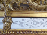 19th Century Giltwood  Wall Mirror detail - close up view