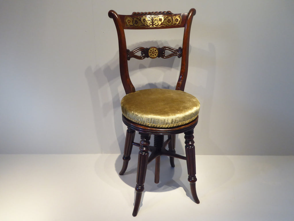 Regency Rosewood Musician Chair - Hobson May Collection - 1