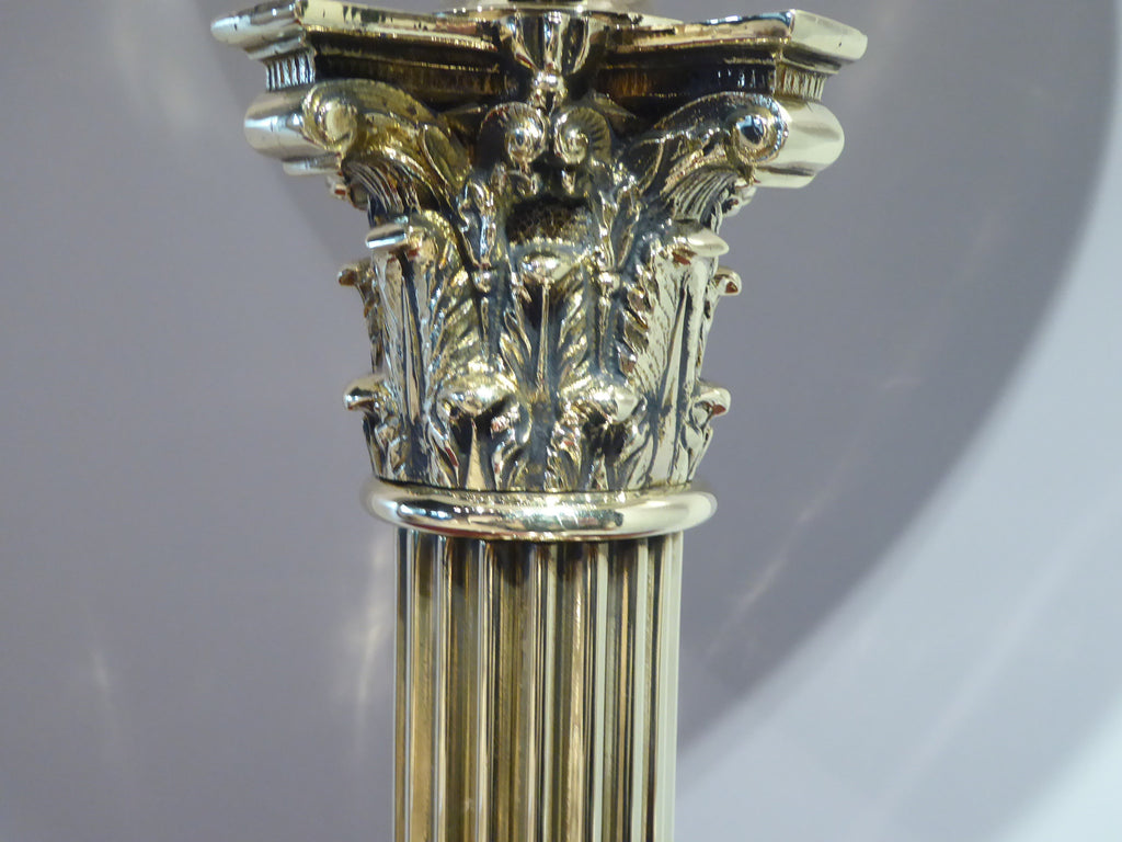 Brass Table Lamp in the Corinthian Style - Hobson May Collection - 4