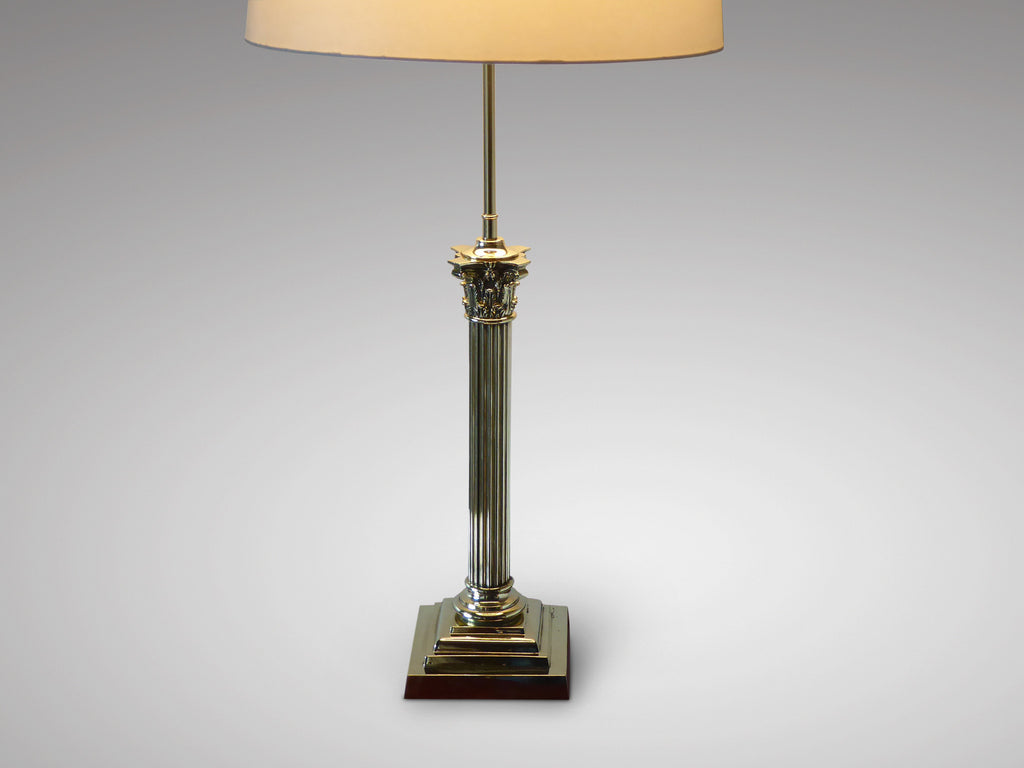 Brass Table Lamp in the Corinthian Style - Hobson May Collection - 2