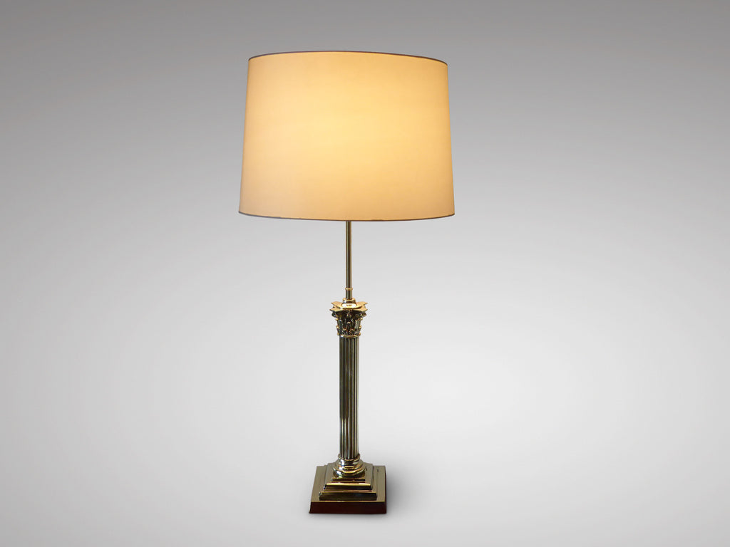 Antique brass table lamp in the corinthian style hobson may brass table lamp in the corinthian style geotapseo Choice Image