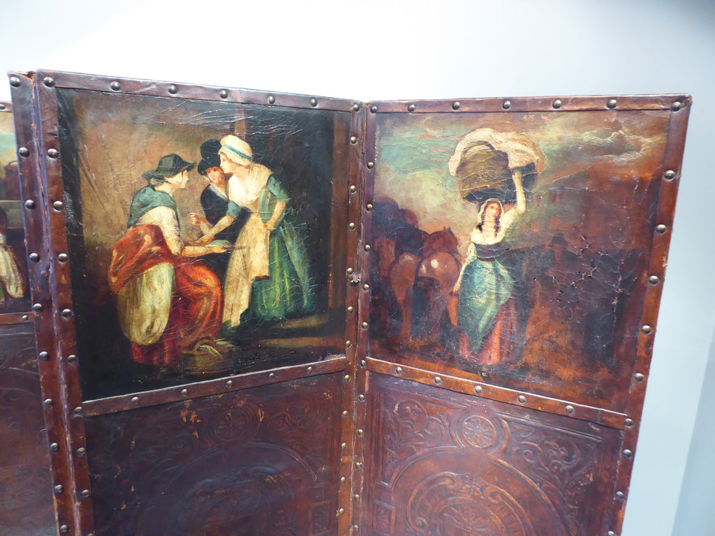 Late 19th Century Leather Screen - Hobson May Collection - 3