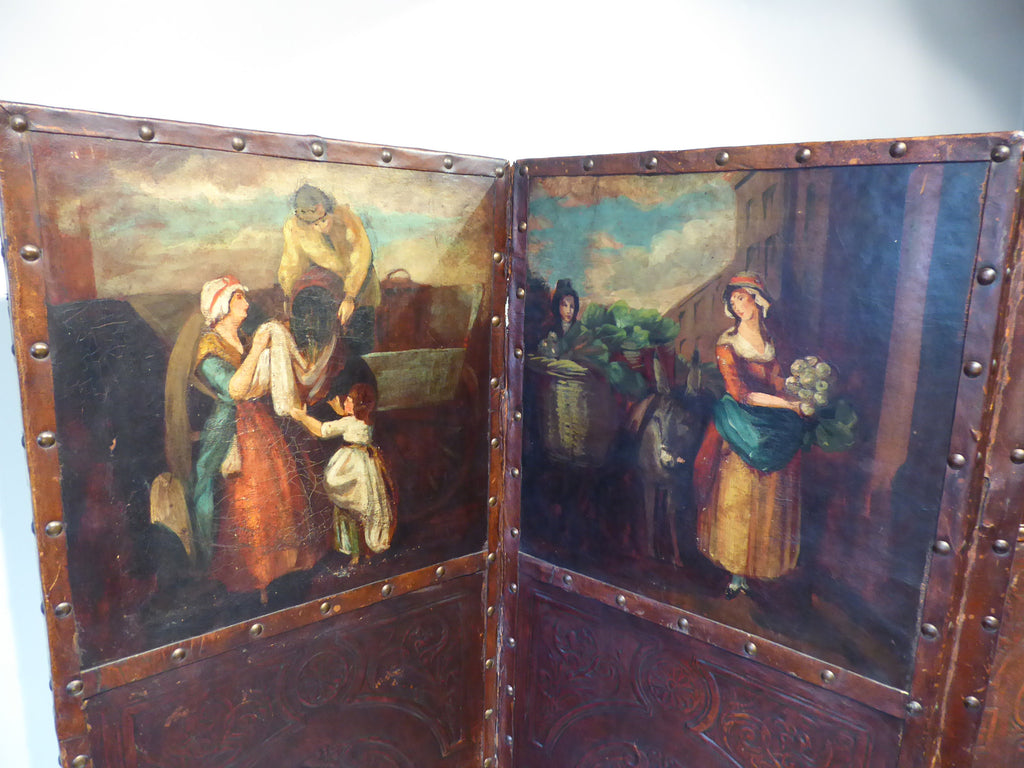 Late 19th Century Leather Screen - Hobson May Collection - 2