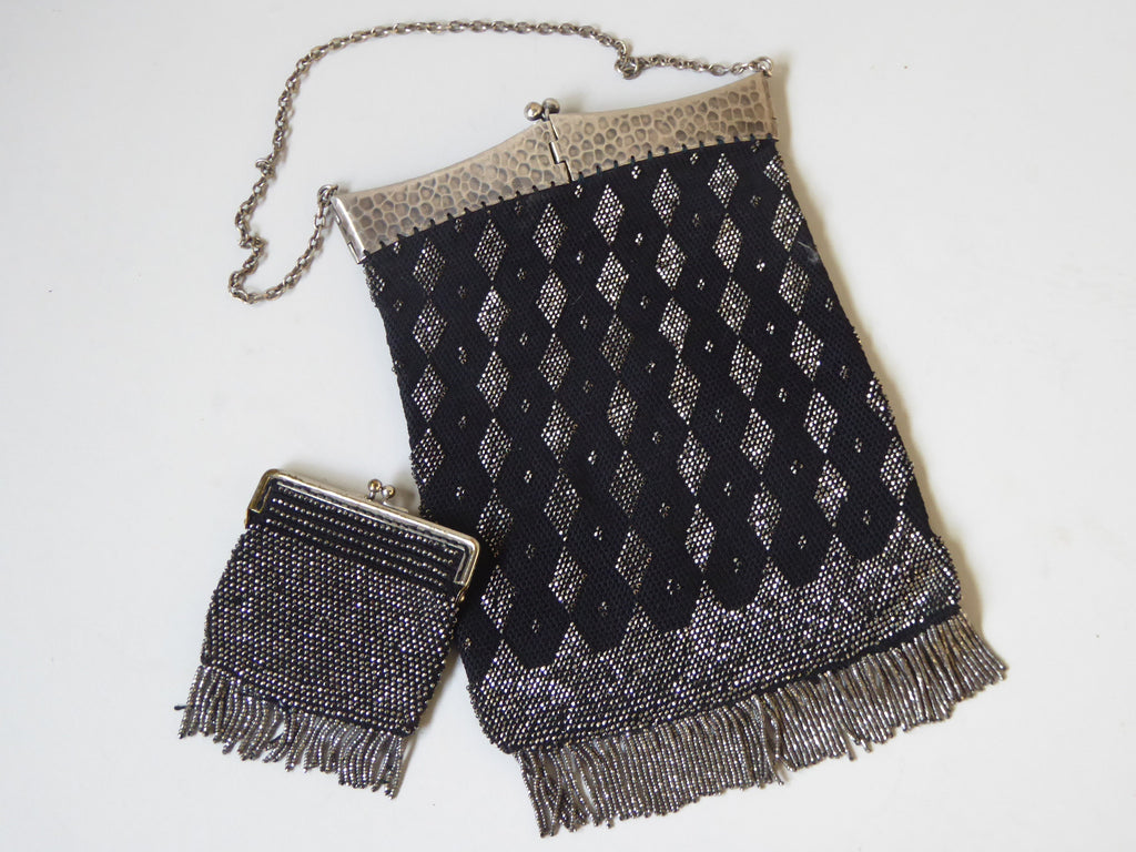 Edwardian Beaded Bag with Purse - Hobson May Collection - 1