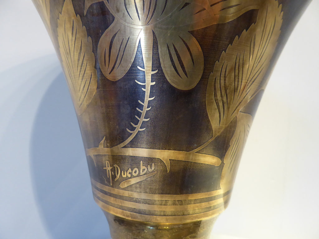 Art Deco Dinanderie Vase  Uplighter - Hobson May Collection - 4