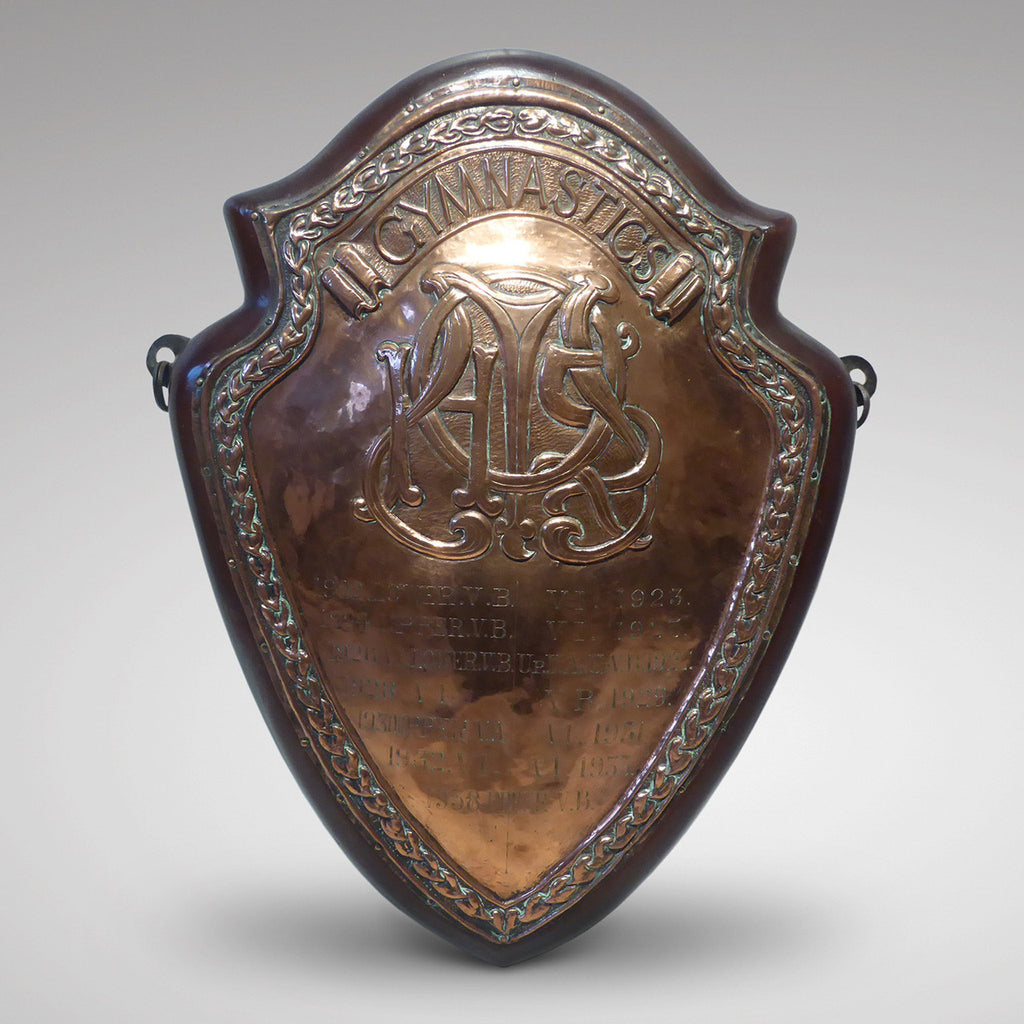 Early 20th Century Sports Shield - Front View - 1