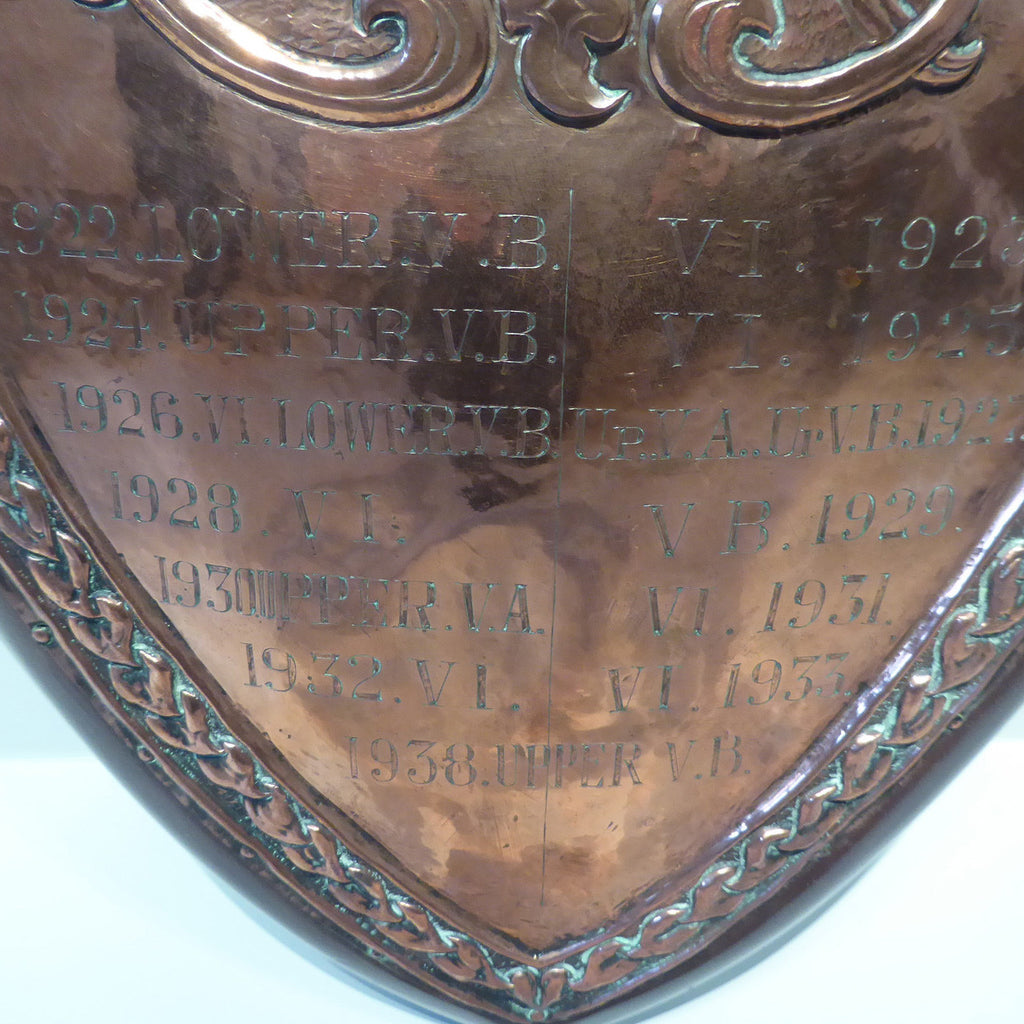 Early 20th Century Sports Shield - Bottom Detail View- 3