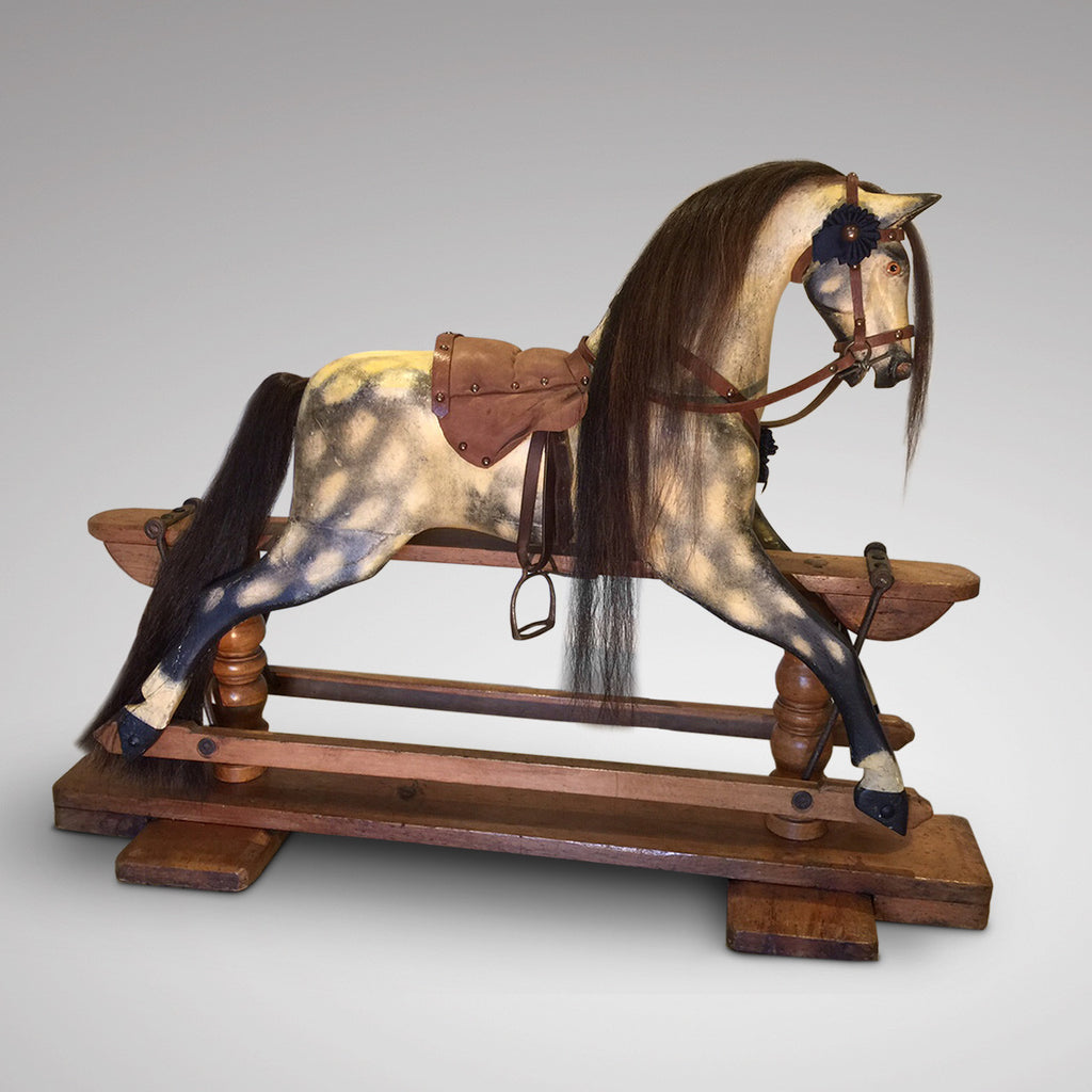 Early 20th Century Turnbull Rocking Horse - Full Side View One