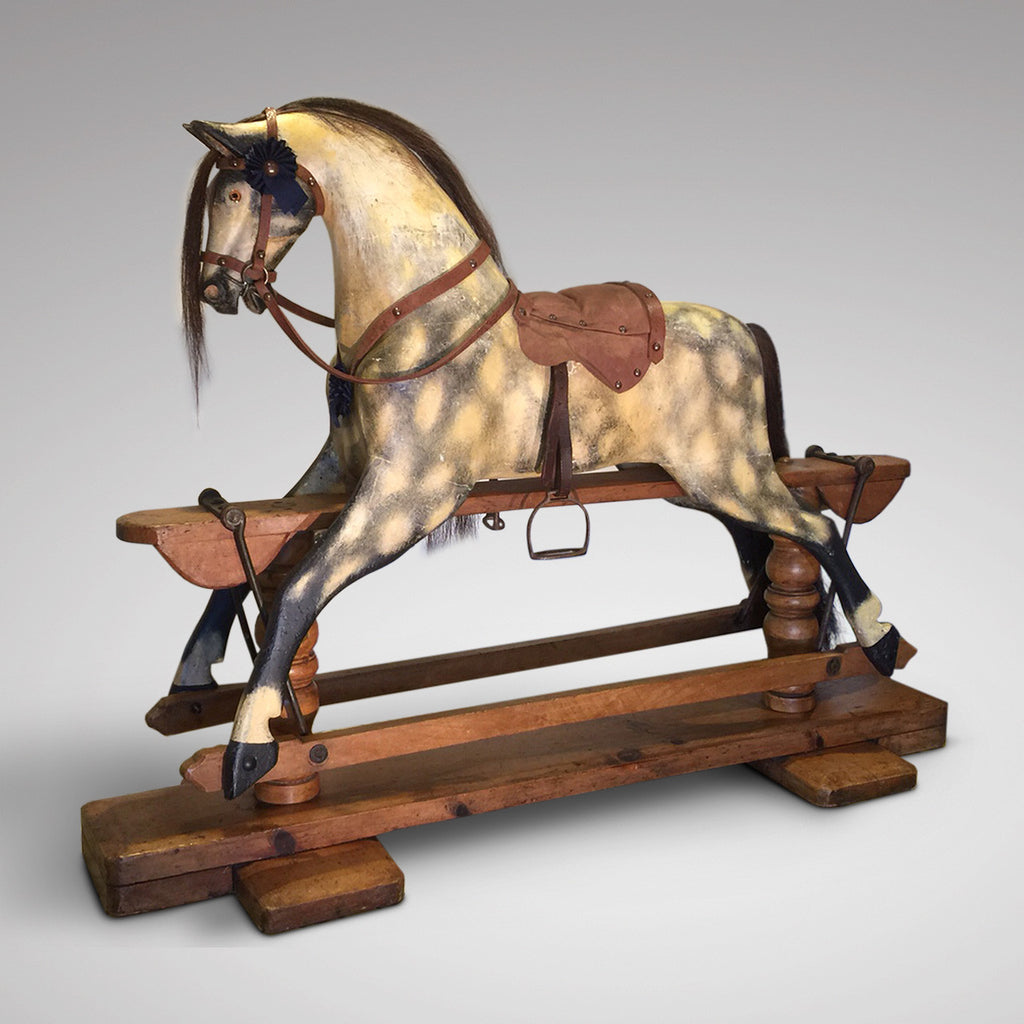 Early 20th Century Turnbull Rocking Horse - Full Side View Two