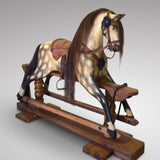 Early 20th Century Turnbull Rocking Horse - Front and Side View