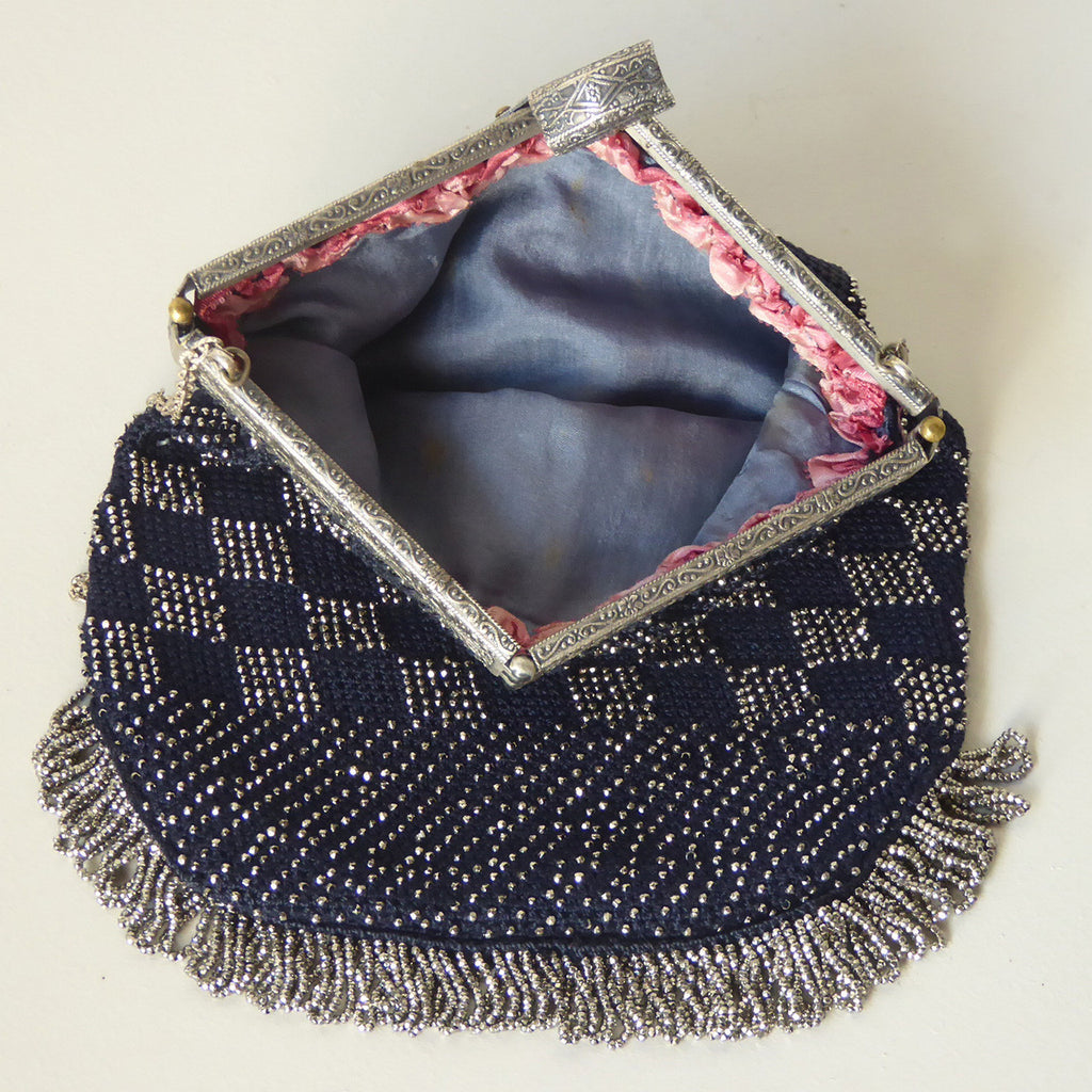 Edwardian Beaded Evening Bag - Inside View-2