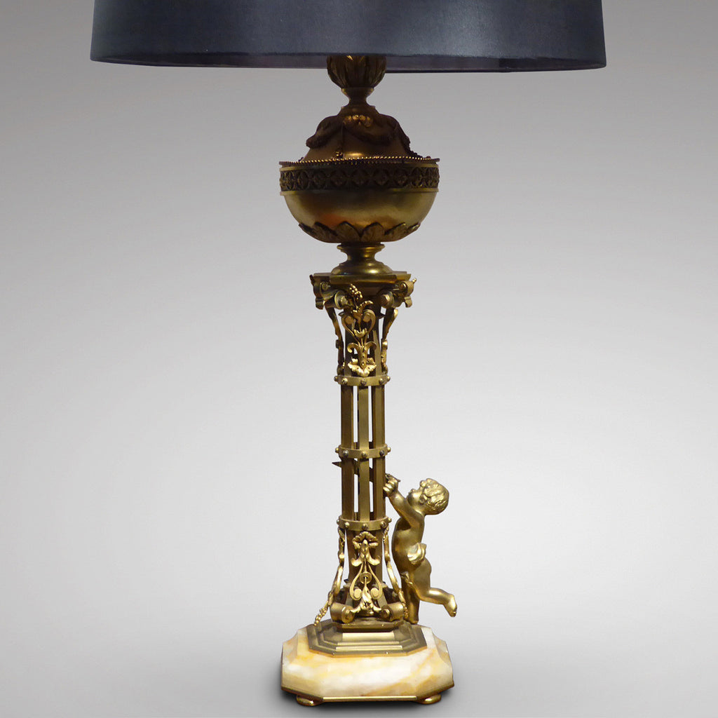 French Gilt Bronze Table Lamp - Main View -1