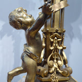 French Gilt Bronze Table Lamp - Detail View -4