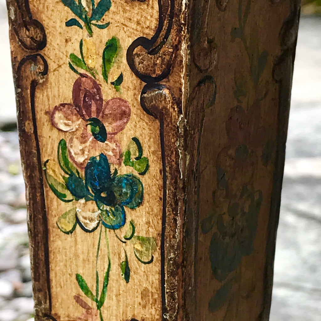 19th Century Stool in Original Paint - Leg Detail View - 2