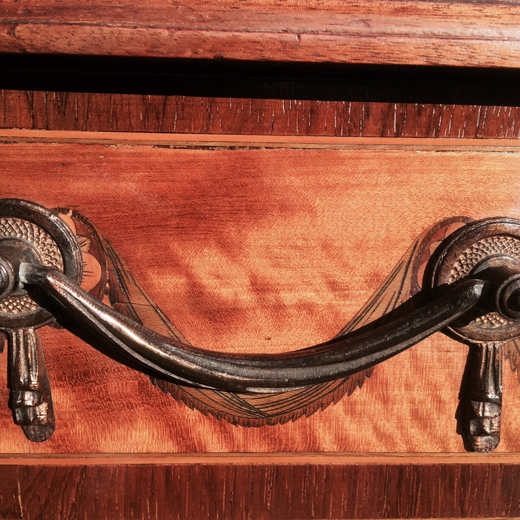 George III Satinwood Library Table - Detail of handle - 7