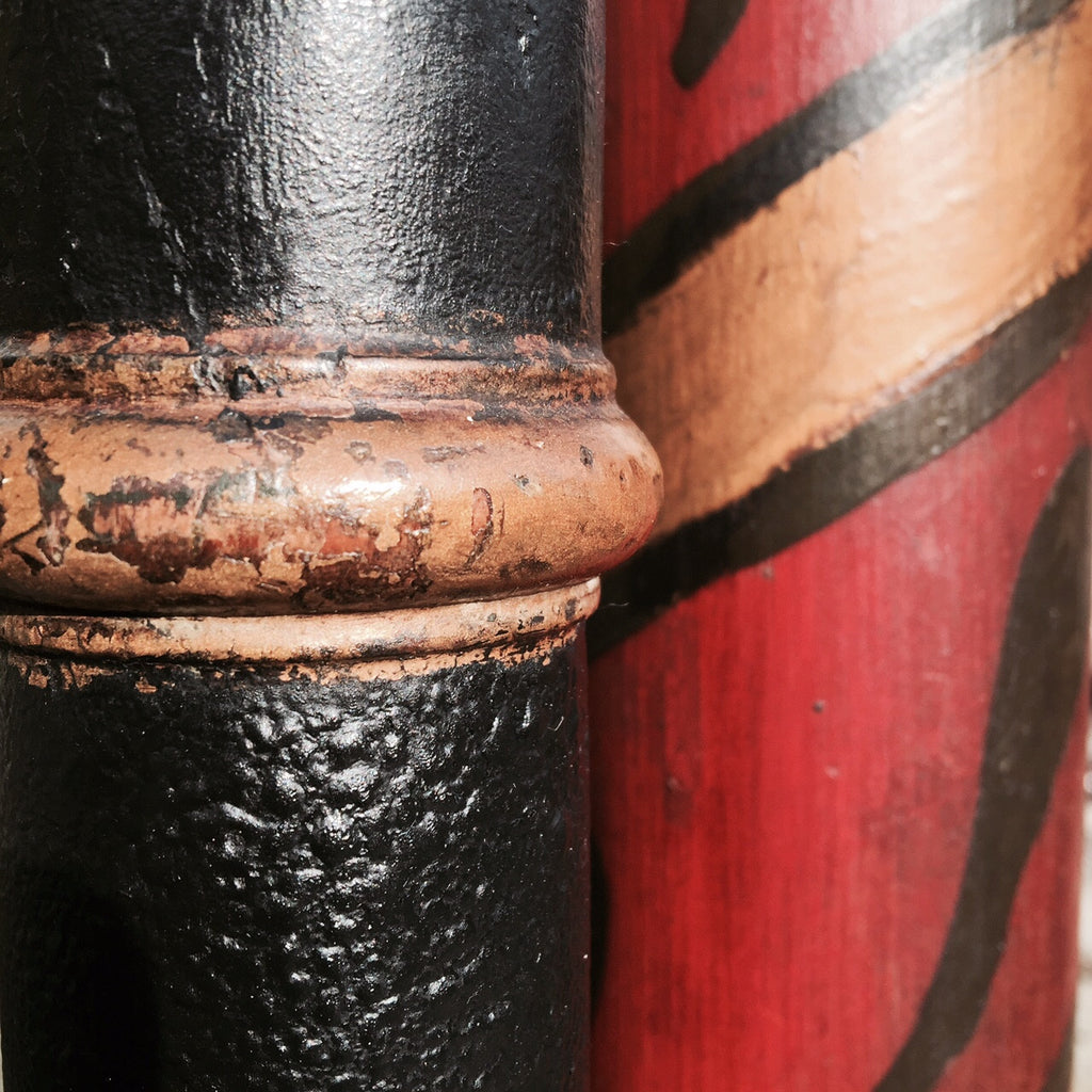 Decorative Victorian Painted Pedestal - Detail of painted columns - 3