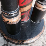Decorative Victorian Painted Pedestal - Detail of Base - 4
