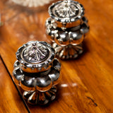 Pair of Victorian Silver Pepperettes - Top View - 1