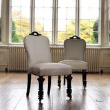 Pair of 19th Century Ebonised Side Chairs - Front View - 1